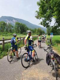 Les cyclos aux frontières de l'Ain et de la Savoie